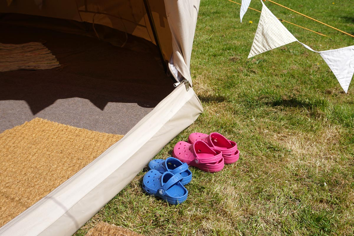 Garden Glamping from Honeybells Tents & Events