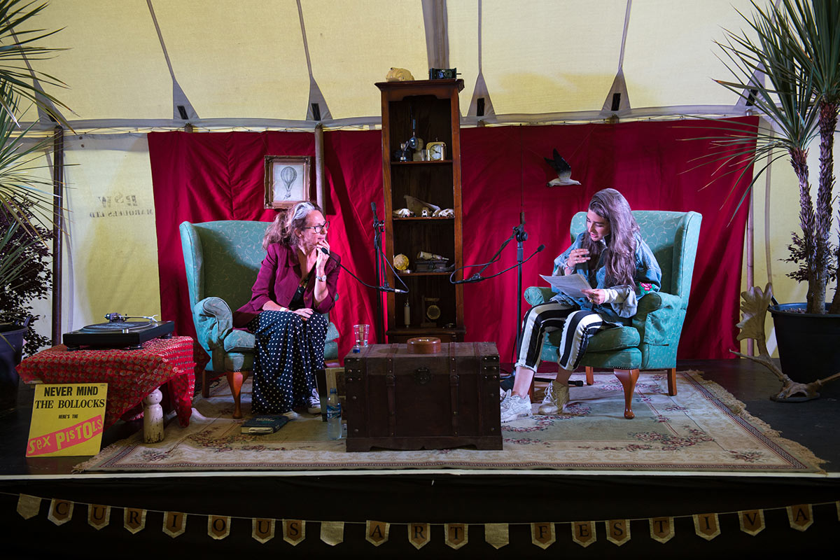 Luxury Camping at Curious Arts Festival 2018