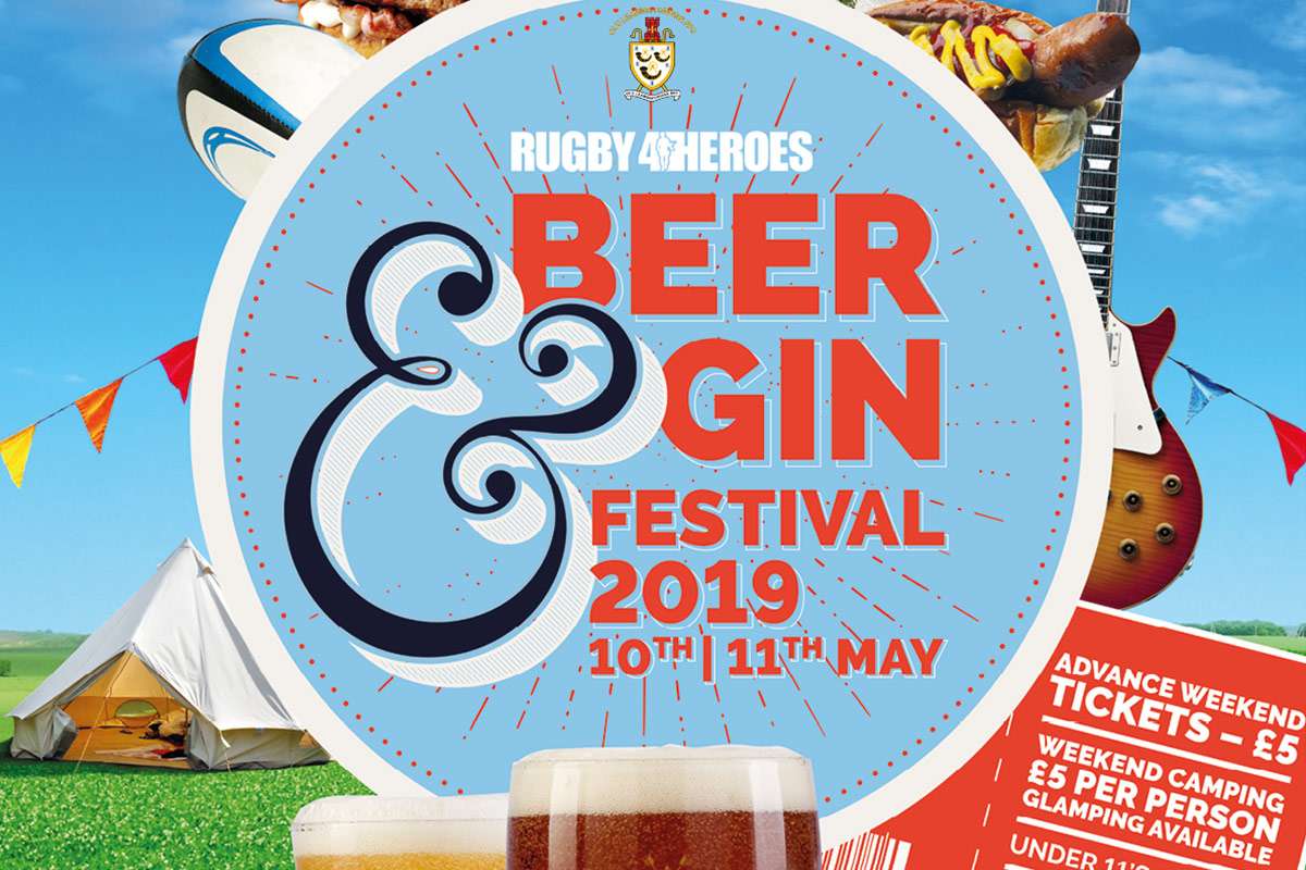 Rugby4Heroes Beer & Gin Festival 2019 Glamping
