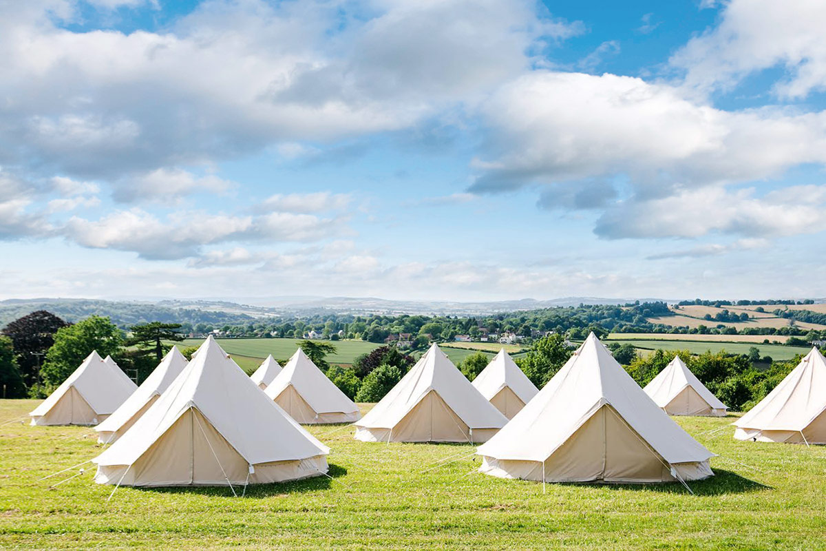 Glamping at Curious Arts Festival 2017 with Honeybells