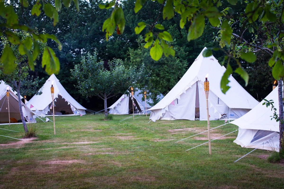 Bell Tent Hire Partnership Opportunites from Honeybells