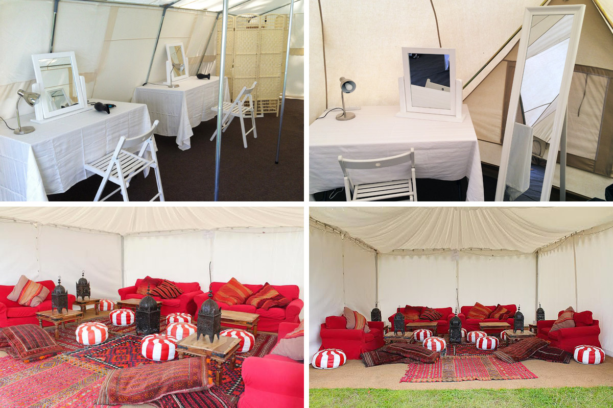 Honeybells Pamper Tent & Chill Out Area