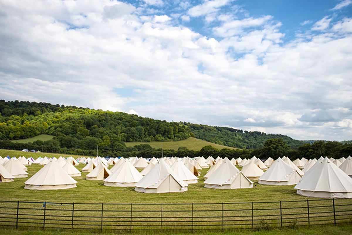 Glamping at SportFest 2017 with Honeybells
