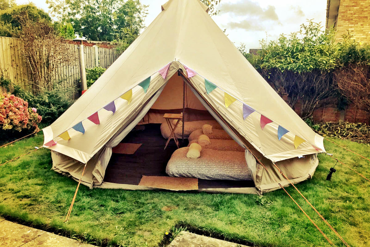 Bell Tents with Wood Burners from Honeybells