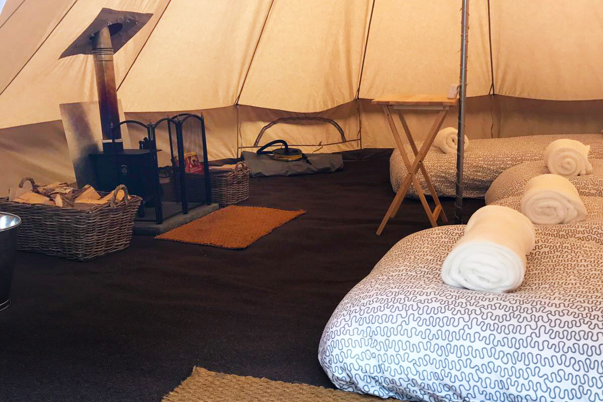 Bell Tent with Wood Burning Stove from Honeybells