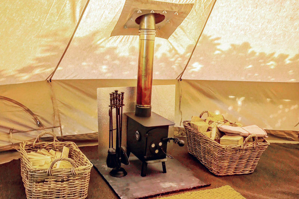 Winter Glamping & Heated Tents from Honeybells